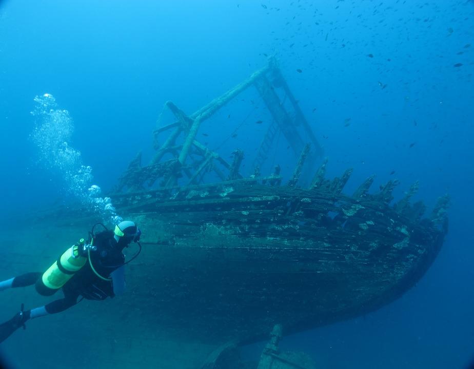 Diving, Croatia, Mediterranean, Wreck, Divers