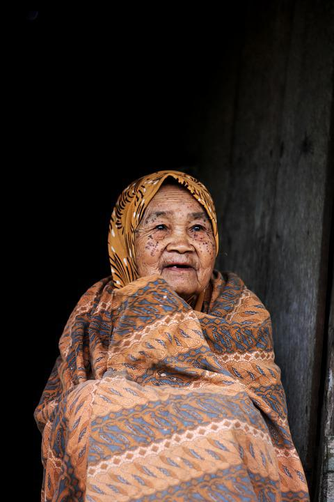 Old Woman, Diversity, Blanket, Asian