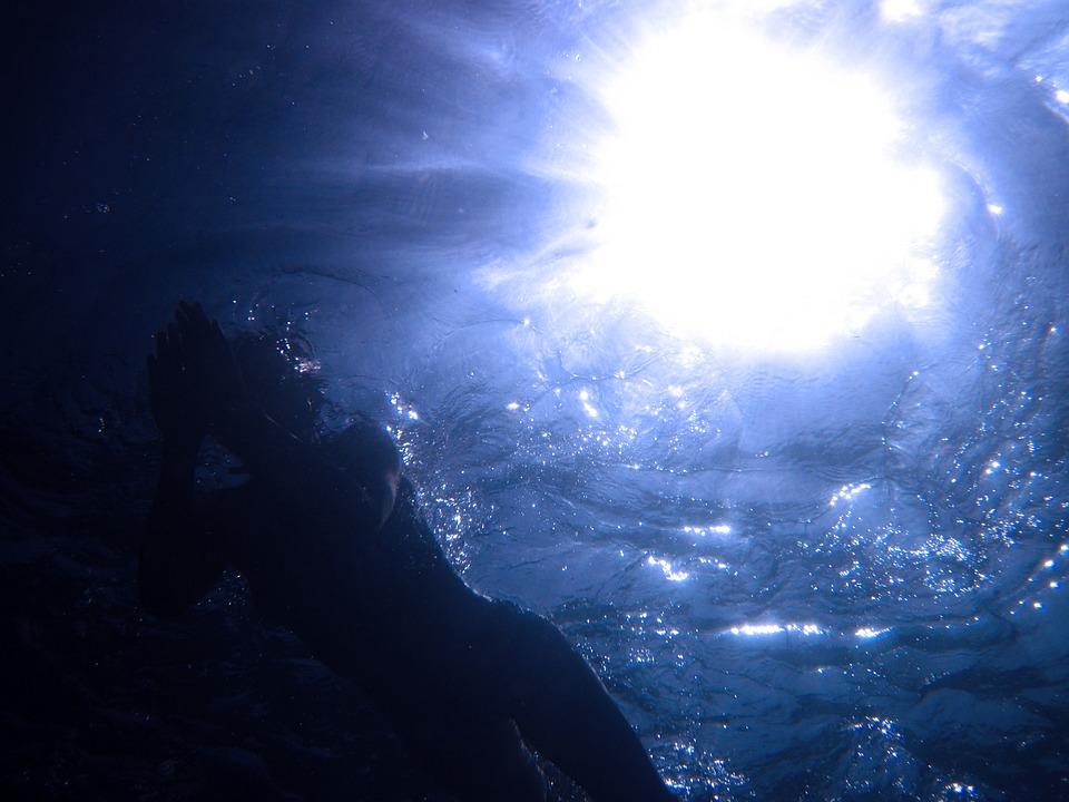 Below, Beneath, Blue, Deep, Dive, Diver, Diving, Light