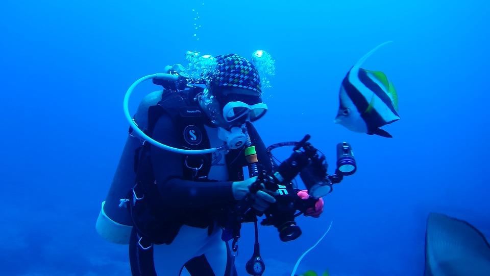 Diving, Divers, Underwater, Sea, Portrait