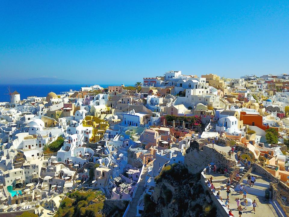 Santorini, Greece, Landscape, Drone, Dji, Mavicpro