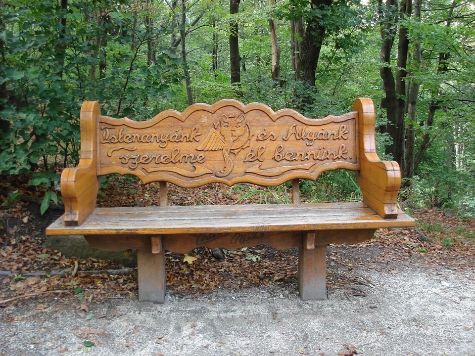 Dobogókő, Forest, Carved Bench