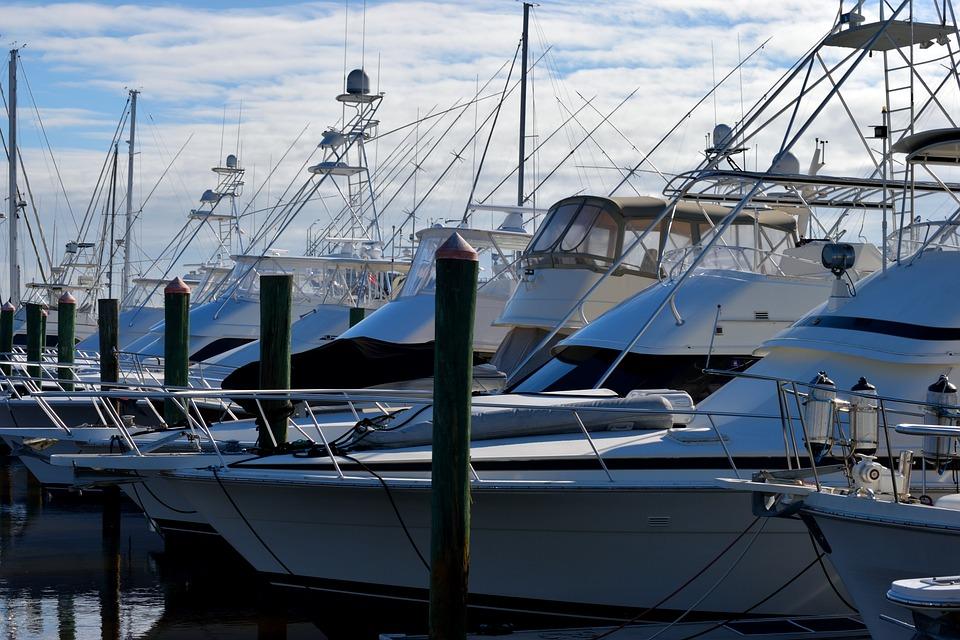 Boat Marina, Yachts, Luxury, Marina, Moored, Dock