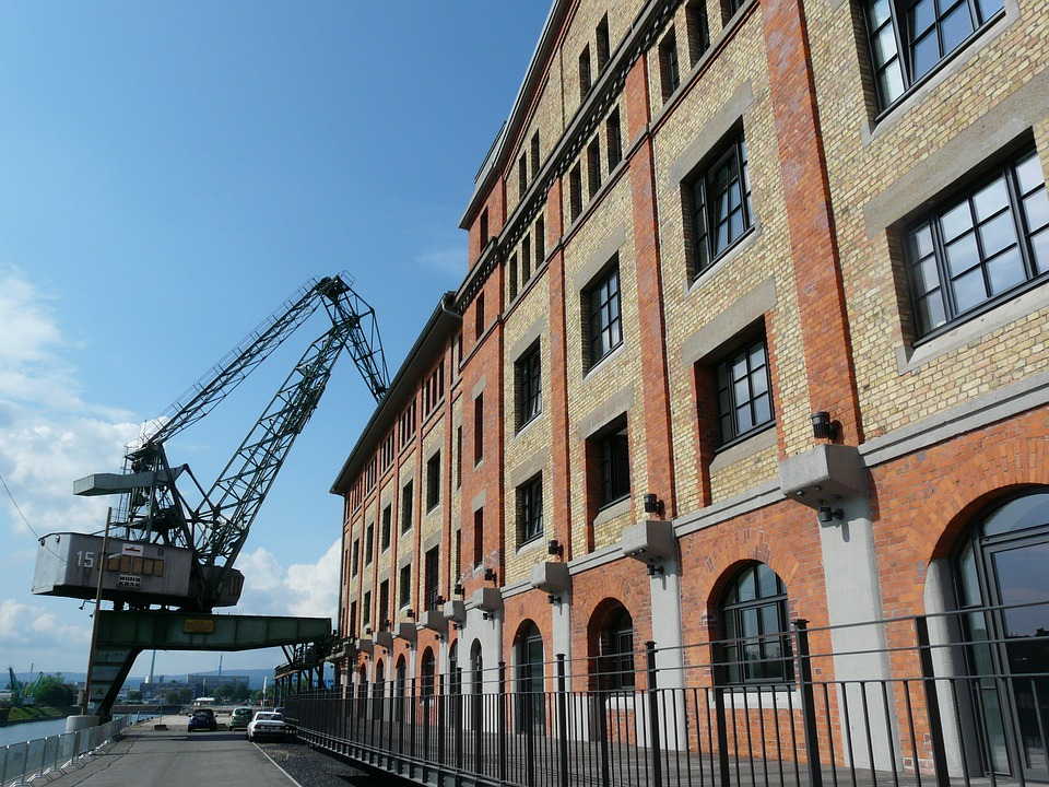 Crane, Dock Loading Crane, Mainz, Harbour Crane