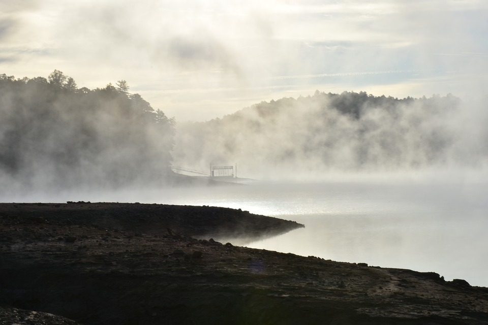 Fog, Mountains, Landscape, Nature, Mood, Foggy, Dock