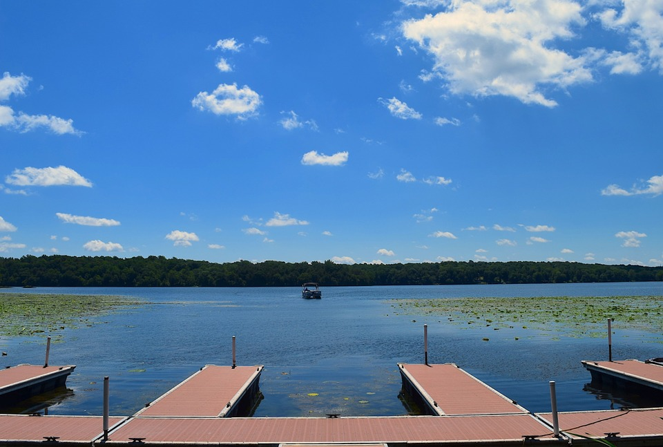 Dock, Lake, Sunlight, Summer, Boat, Water, Nature