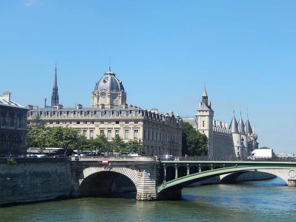 Paris, The Exchange Bridge, Dock Of The Clock