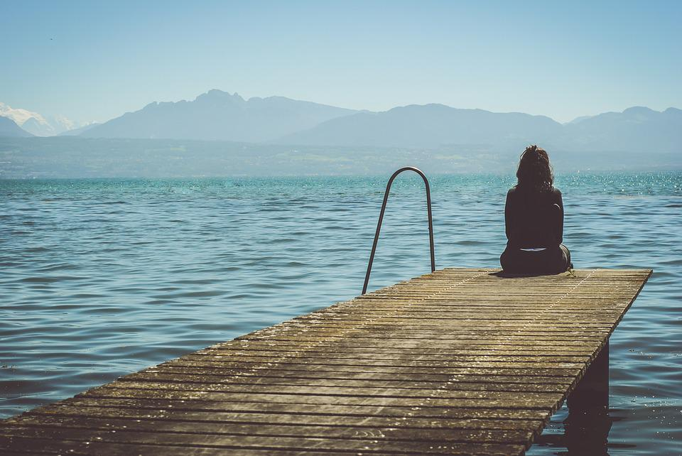 Beautiful, Dock, Lake, Outdoors, Person, Pier, Scenic