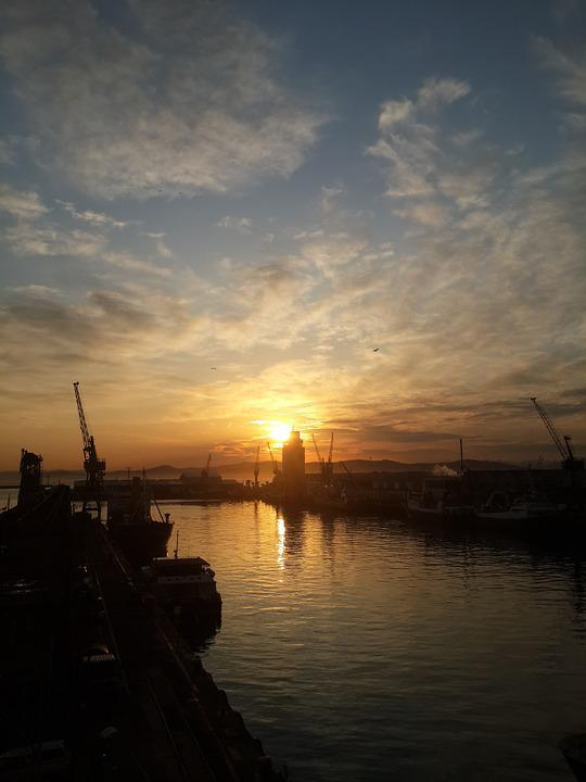 Harbor, Cape Town, Sunset, Dock, Sky, Waterfront, Water