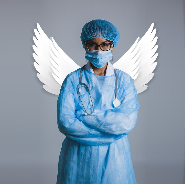 Guardian Angel, Doctor, Health, Angel, Woman, Nurse