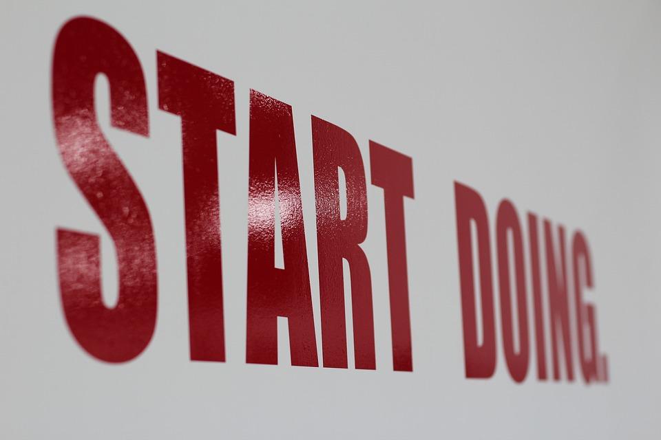 Lettering, Start, Doing, Red, Wall
