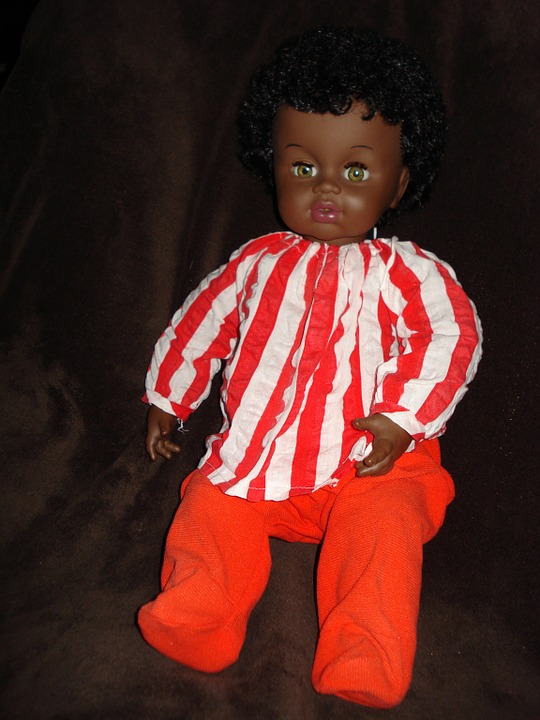 Doll, Color, Brown, Black, Child, Toy