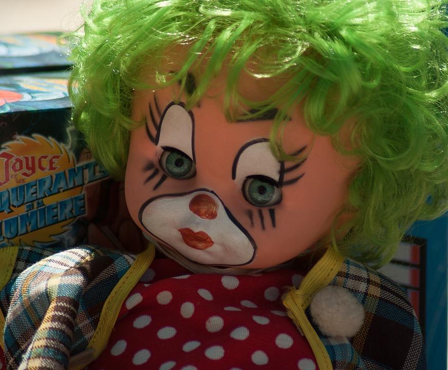 Clown, Doll, Flea Market, Toys