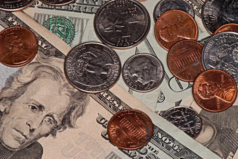Money, Dollars, Coins, Currency, American, Commerce