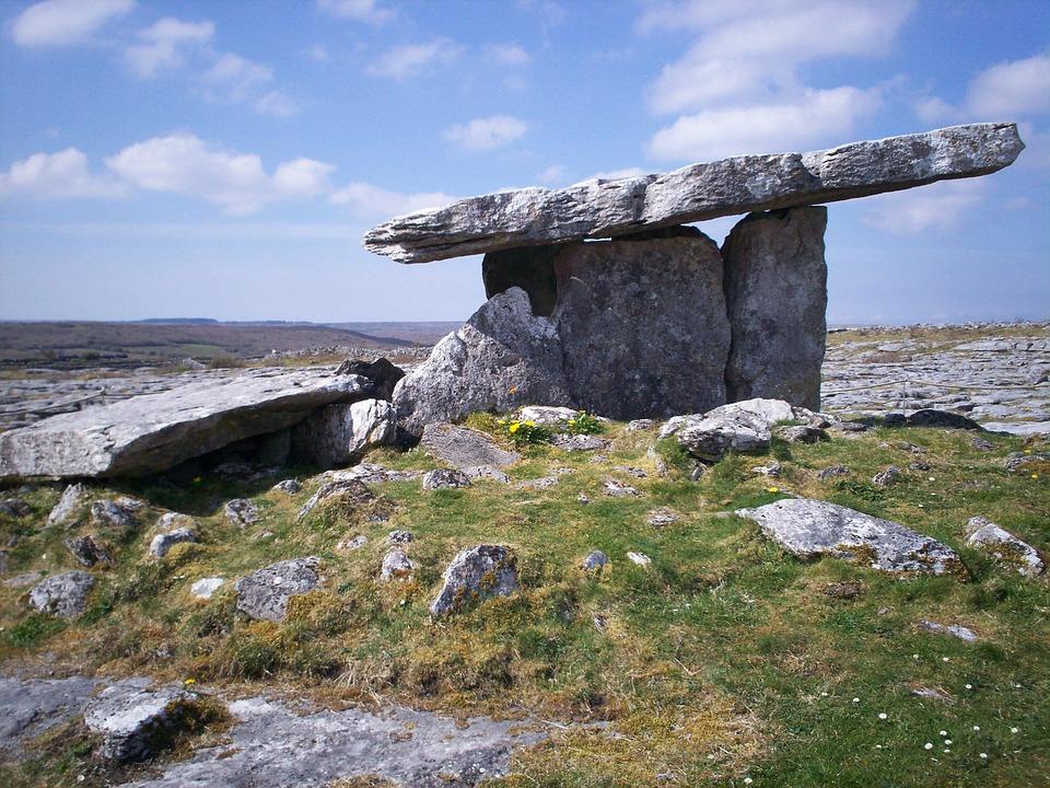 Dolmen, Celtic, Artifact, Menhir, Ireland, Poulnabrone
