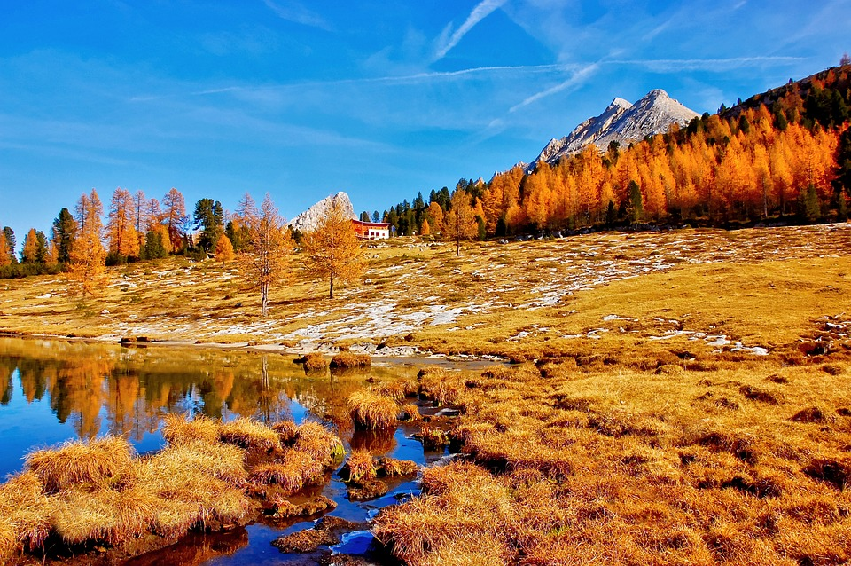 Fanes Alm, Lavinores, Dolomites, Mountains, Italy