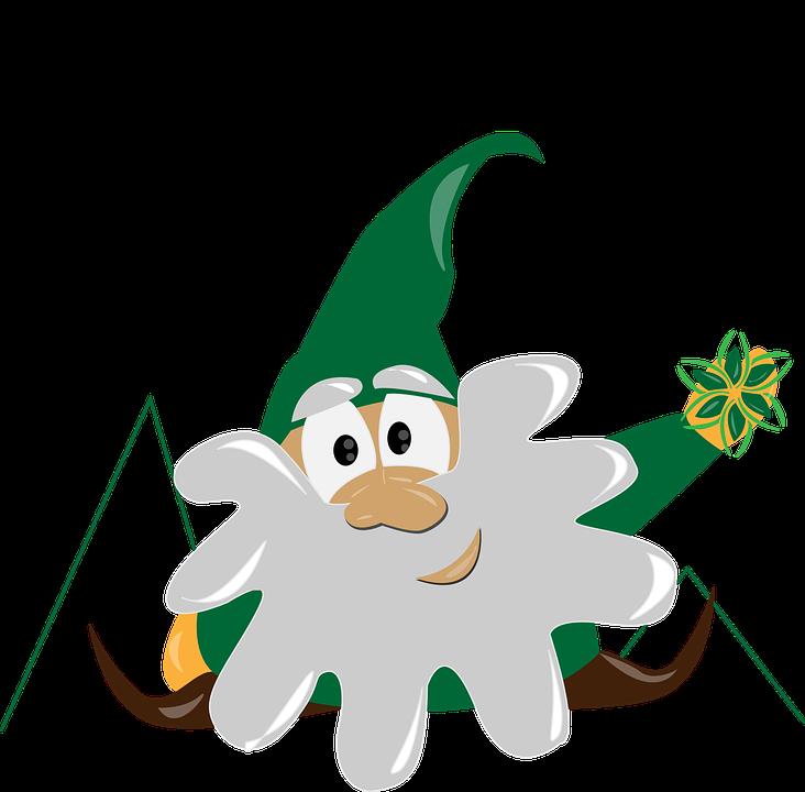 Gnome, Mountain, Dolomites, Hiking, Snow