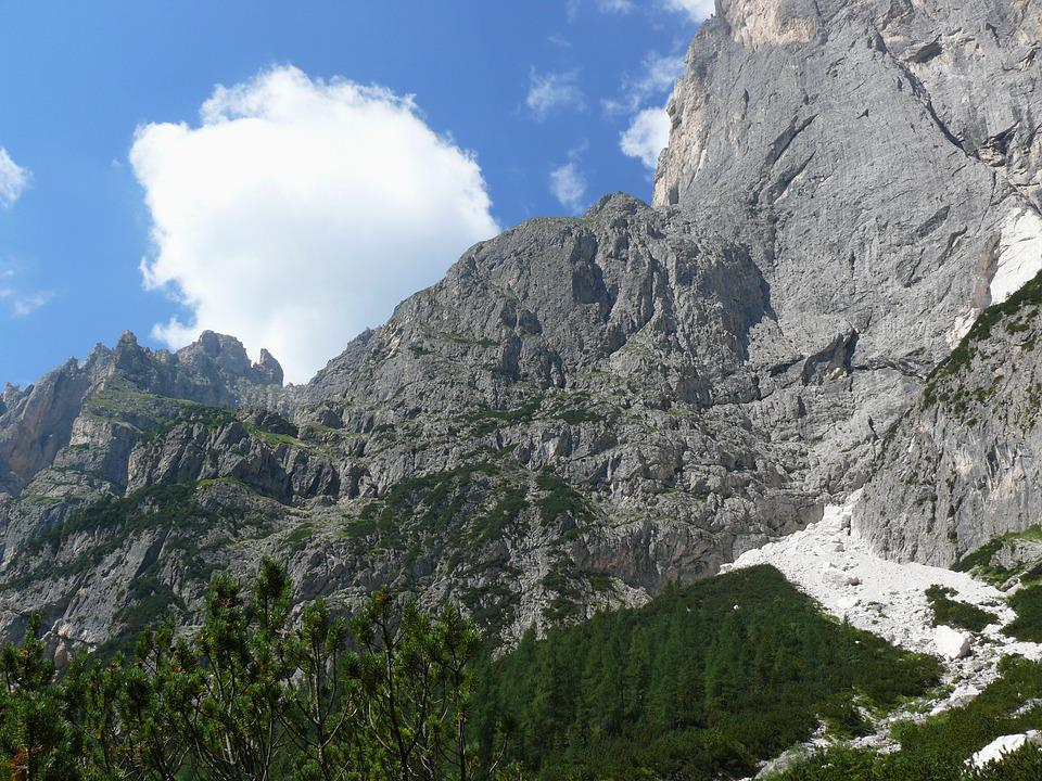 Mountains, Dolomites, Trentino