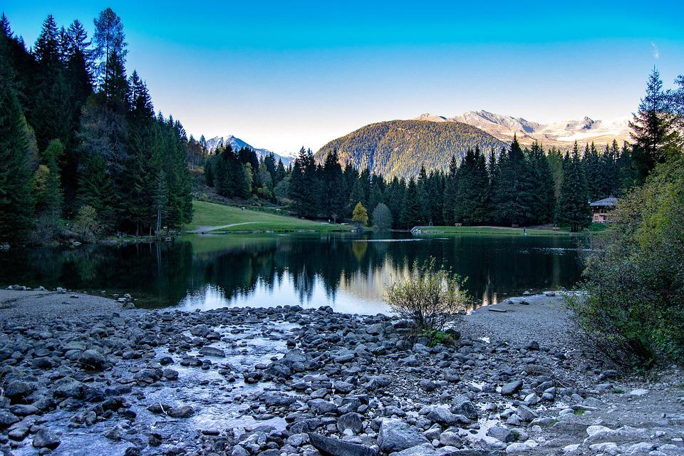 Italy, Lake, Trentino, Dolomites, Alpine, Landscape