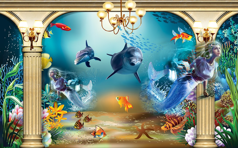 Dolphin, Art, Creation, Natural, Water, The Sea