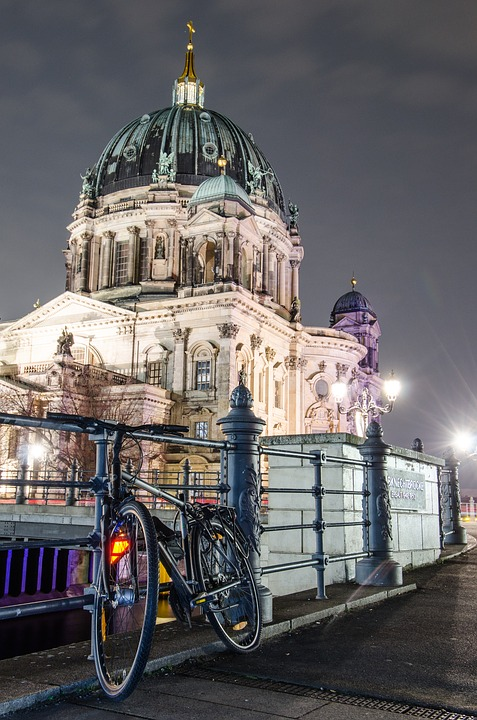 Church, Dom, Berlin Cathedral, Berlin, Bike, Spree