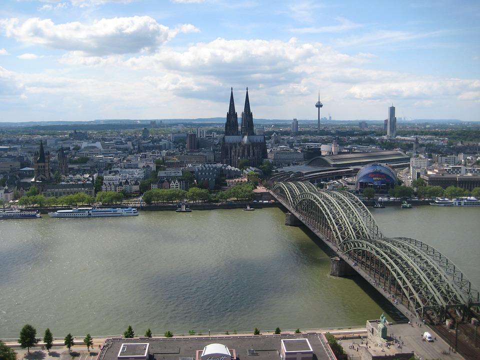 Cologne, Rhine, Hohenzollern Bridge, Bridge, River, Dom