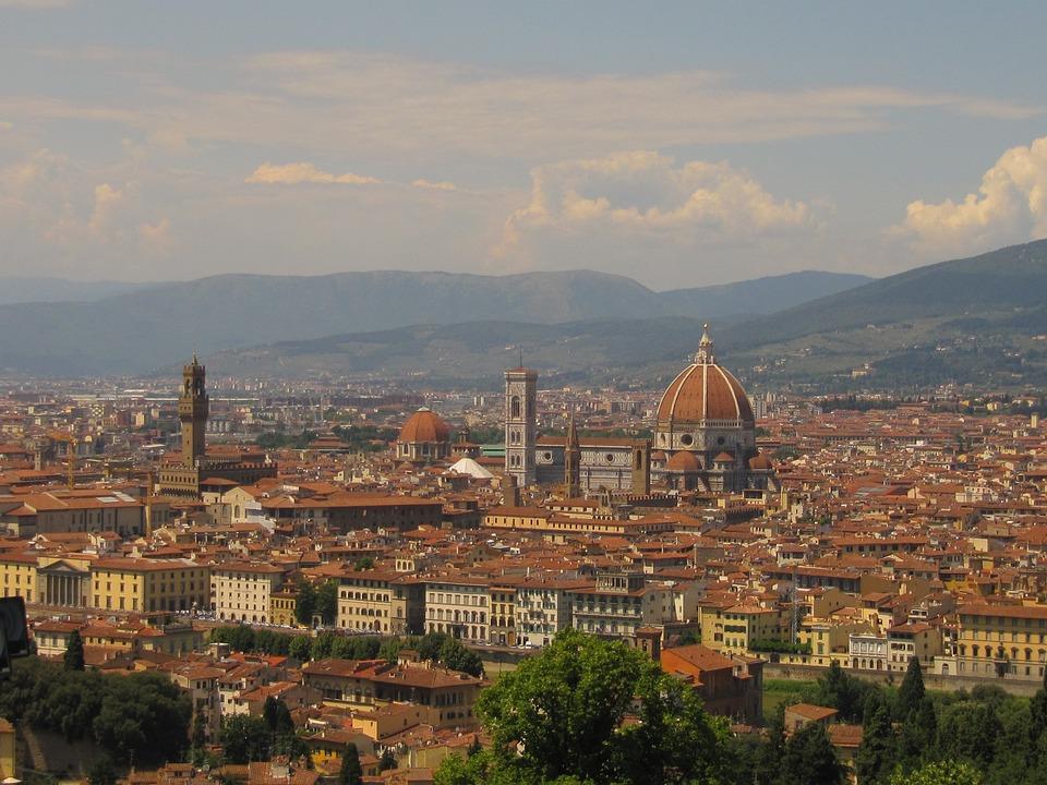 Florence, Panorama, Tuscany, Italy, City, Dom