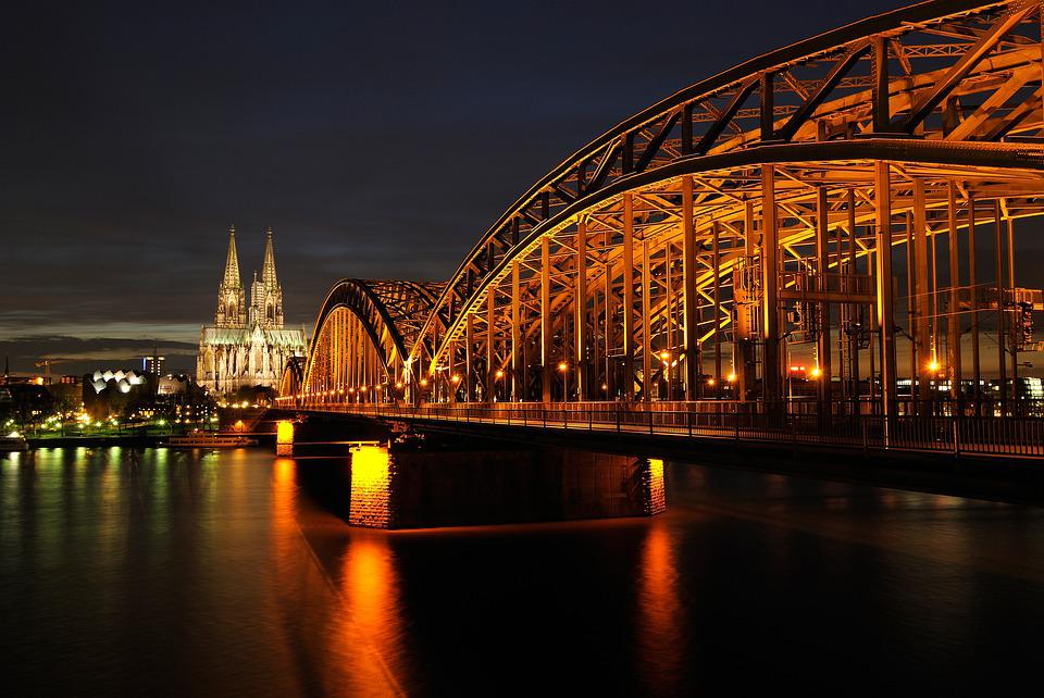 Cologne, Dom, Night, Architecture, Landmark, Imposing