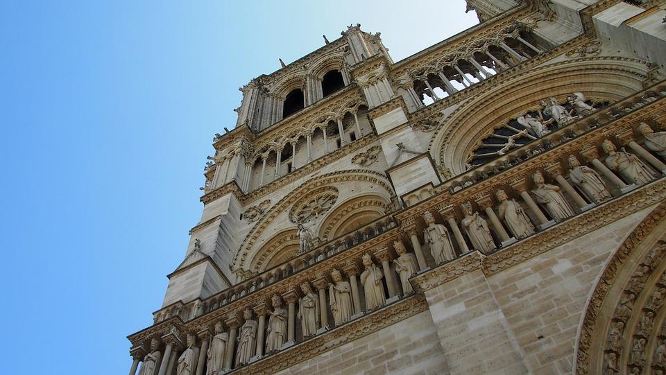 Paris, Notre Dame, Church, Dom