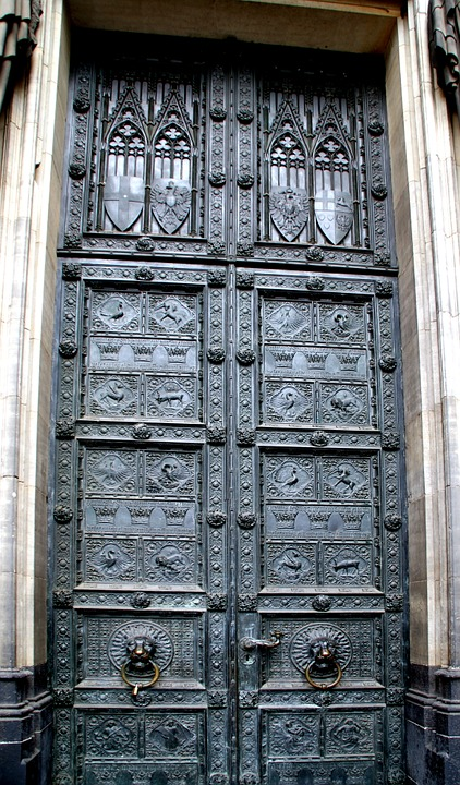 Dom, Portal, Cologne, Door, Metal, Historically, Old