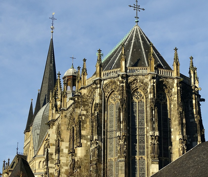 Germany, Aachen, Dom, Old Town, Historically