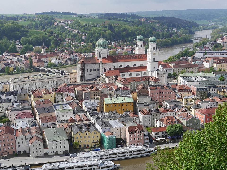 Passau, Historic Center, Dom, Danube, Inn, Colorful