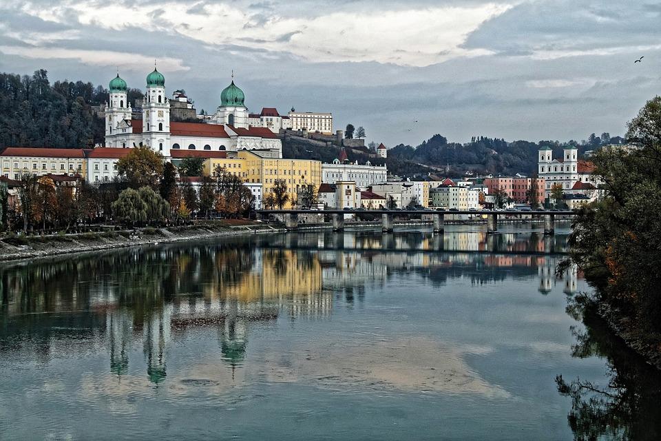 Passau, Historic Center, Dom, Veste, Inn, Water