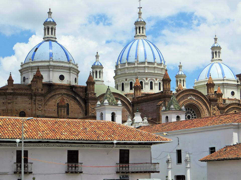 Ecuador, Cuenca, Cathedral, Dome, Architecture