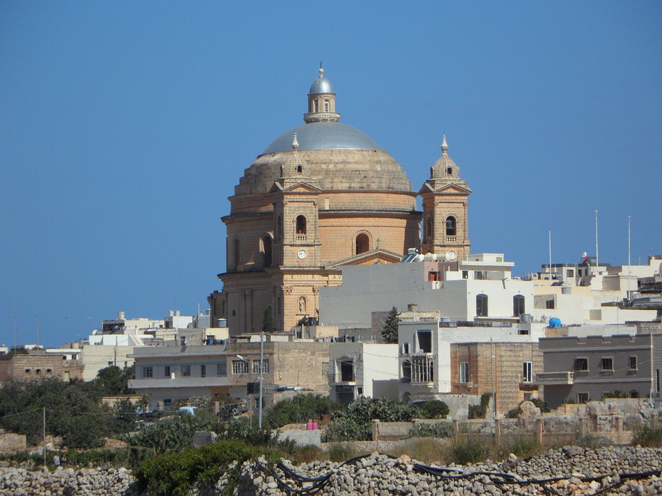 Church, Dome, Malta, Church Dome, Mgarr, Architecture