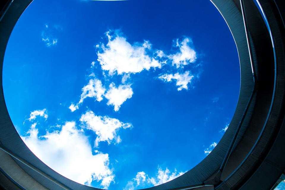 Summer Sky, Opening, Dome, Structure, Blue