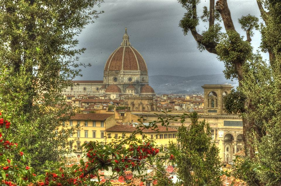 Florence, Dome, Tuscany, Brunelleschi, Hdr