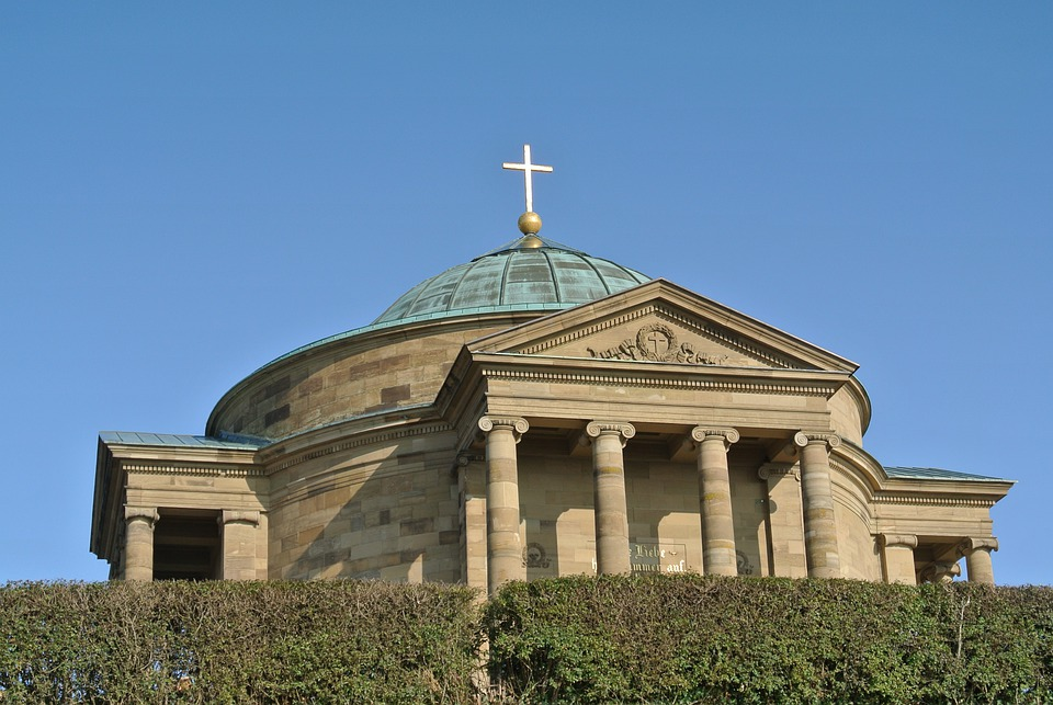 Church, Dome, Building, Columnar, Christian, Roman