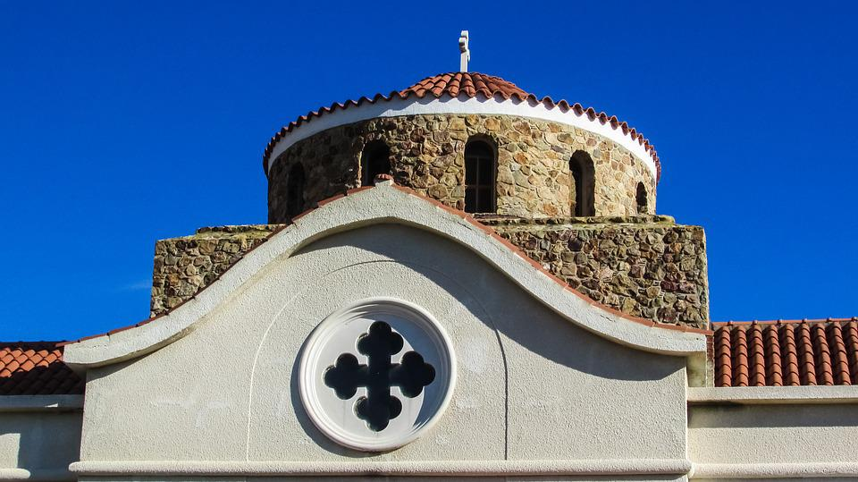 Cyprus, Mosfiloti, Church, Dome