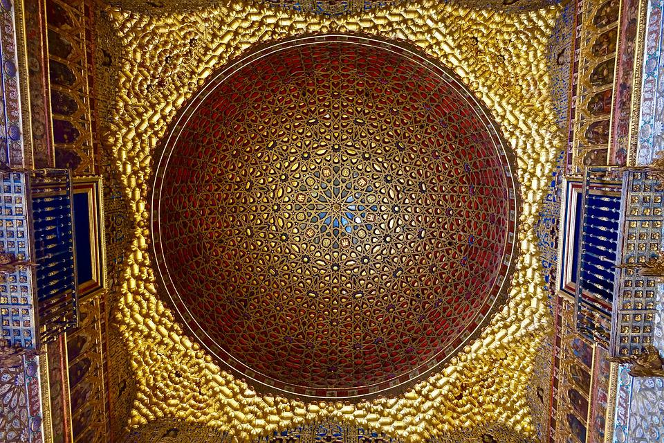 Dome, Gold, Arabic, Cathedral, Ornamental, Intricate