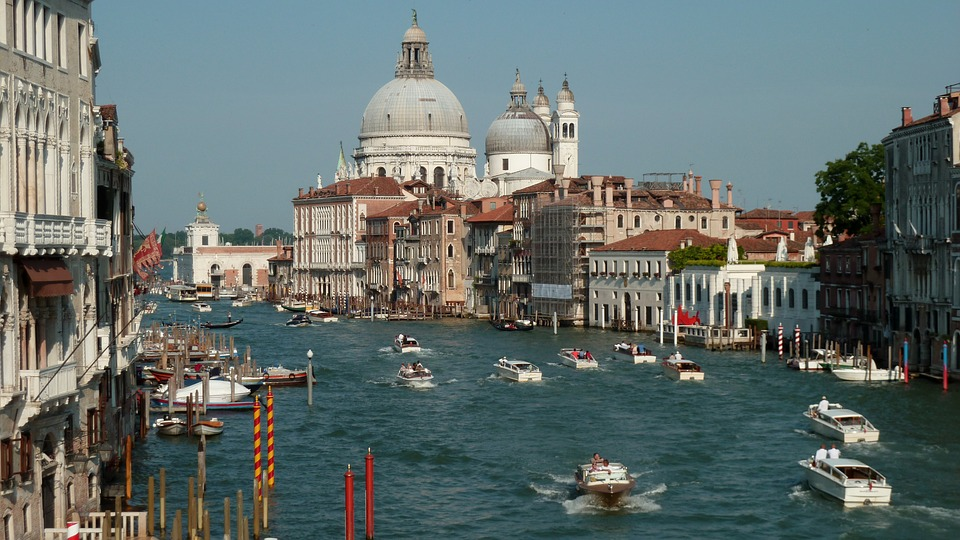 Venice, City, Italy, Dome, Grand Canal