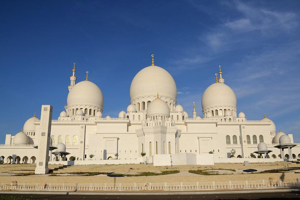 Abu Dhabi, Mosque, Religion, Minaret, Dome, Muslim