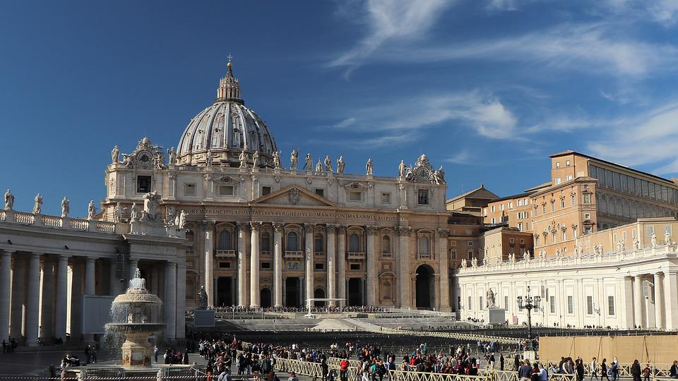 Rome, Church, Dome, Basilica, Sky, The Vatican