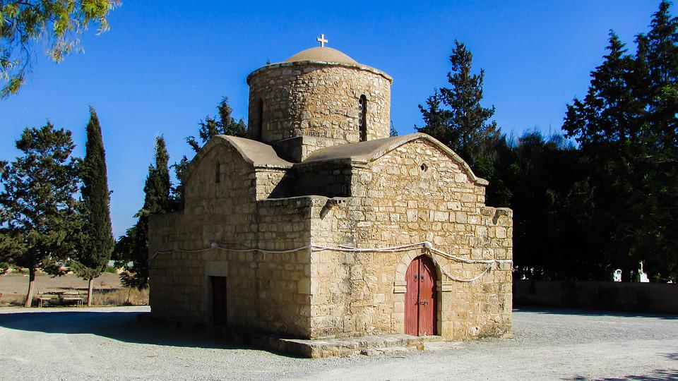 Cyprus, Sotira, Chapel, Dome, Orthodox, Architecture