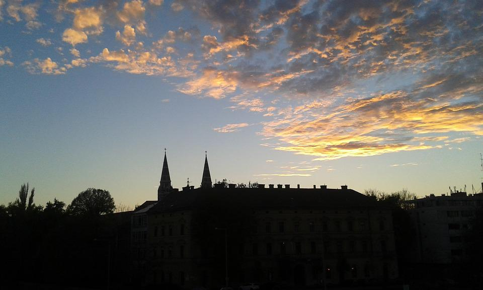 Szeged Hungary, Dusk, Dome