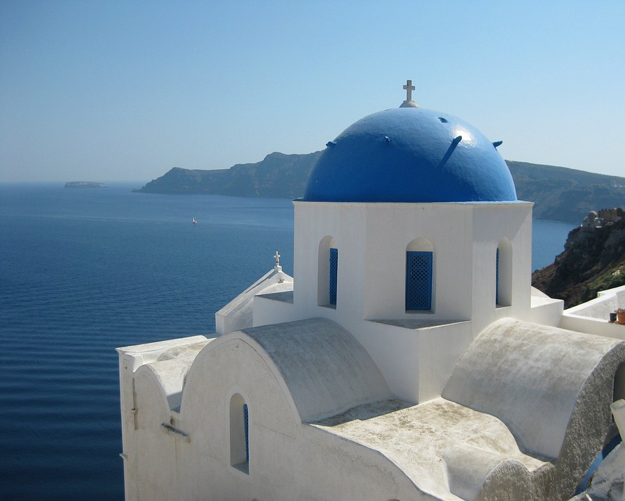 Chapel, Greece, Church, Building, Dome, Traditional