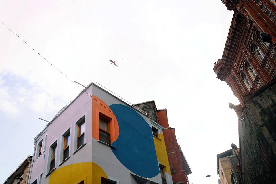 Gulls, Towers, Domes, Sky, See, Travel, Turkey, Beach