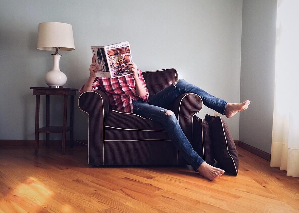 Person, Reading, Home, Domestic, Leisure