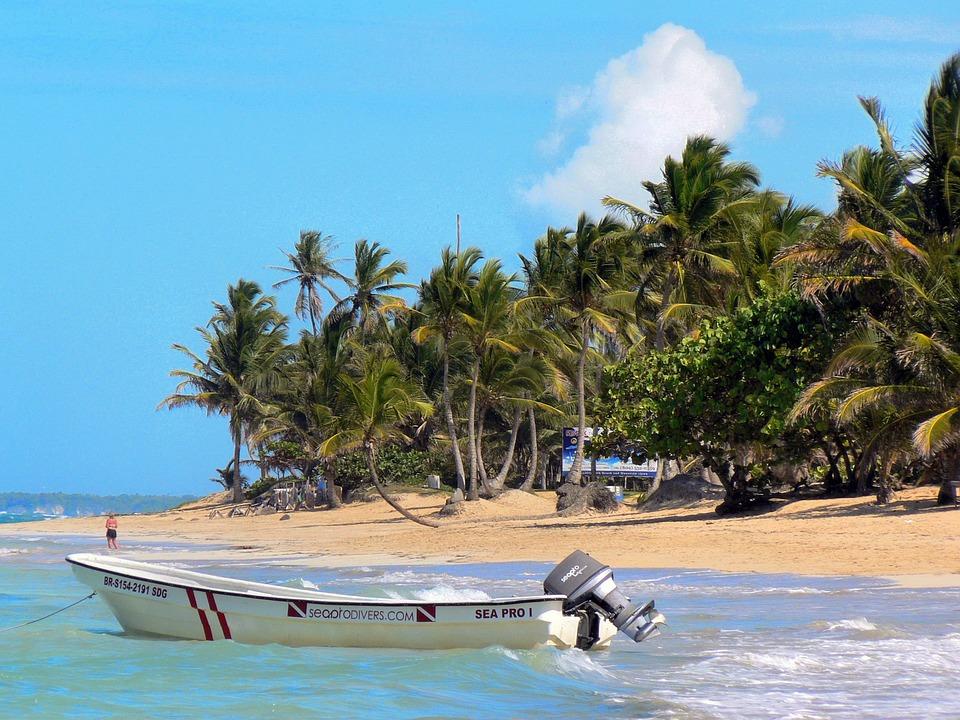 Dominican Republic, Boat, Beach, Holiday, Blue, Shore