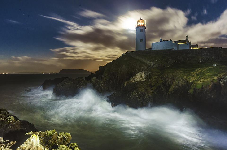 Lighthouse, Fanad, Ireland, Donegal, Irish, Coast, Sea